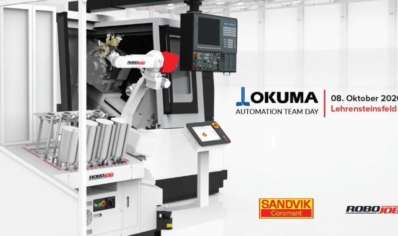 Robojob, Okuma en Sandvik organiseren Automation Team Day